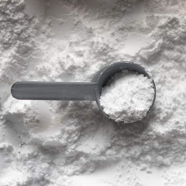 small scoop of protein powder